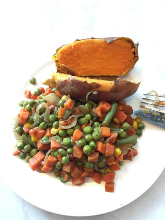 Sweet Potato and Mixed Veg