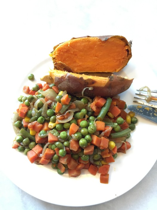 Sweet Potato and Mixed Veg